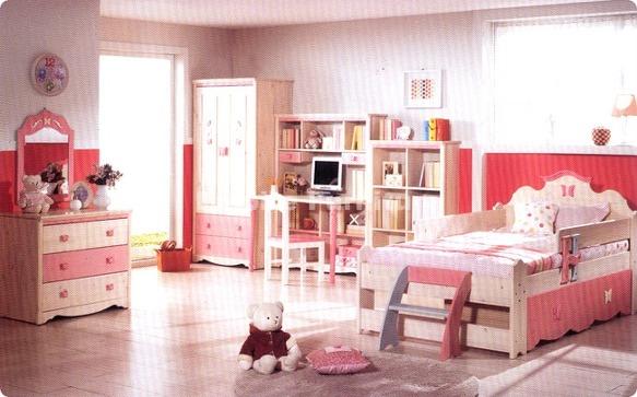앙피르가구(고급아동가구, 수입가구) - 나비랑 주니어 침실세트