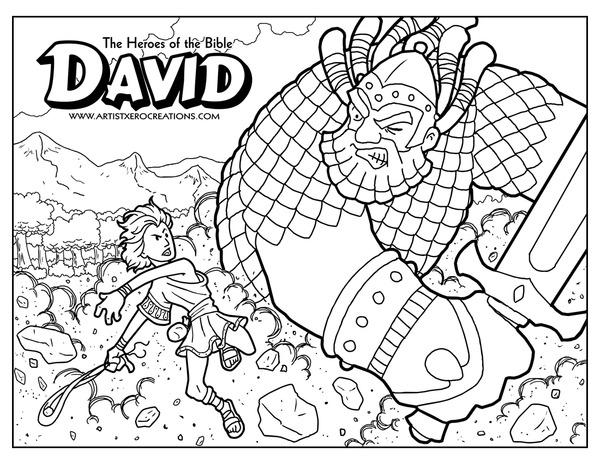 David coloring