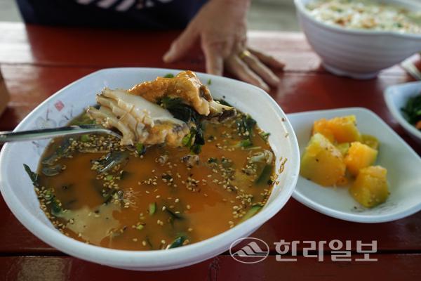 '당찬맛집' 성산읍 고성리 백기해녀의 집~~~