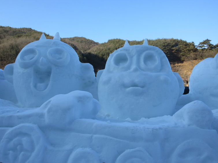 칠갑산 얼음분수축제