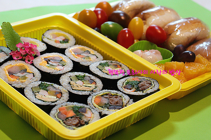 재료 하나만 바꿔도 다른맛~ 나들이 김밥 도시락