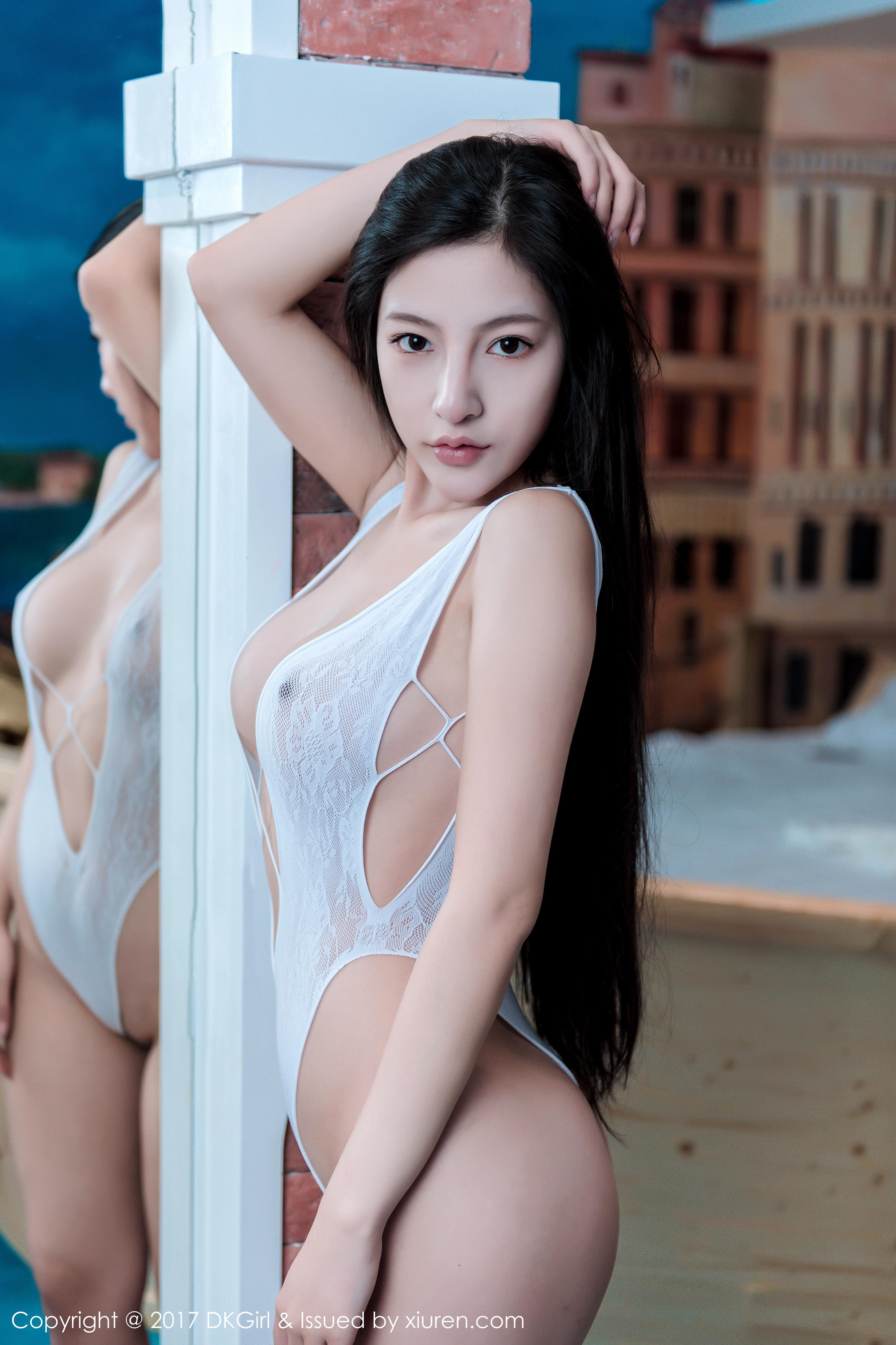 hot Chinese woman in lingerie
