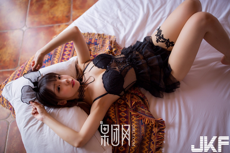 cool Chinese in lingerie