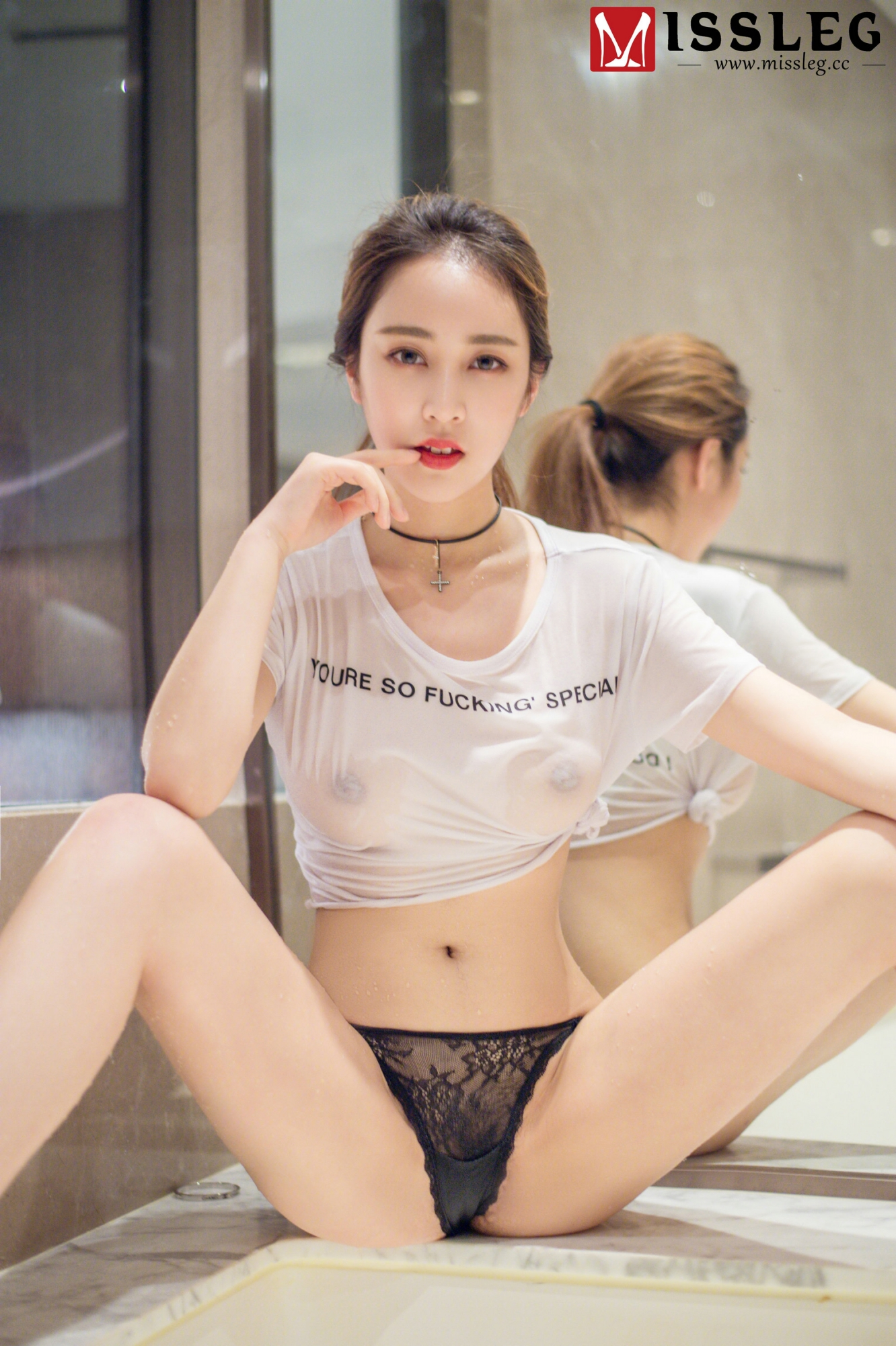 hot transparent wearing Chinese girl