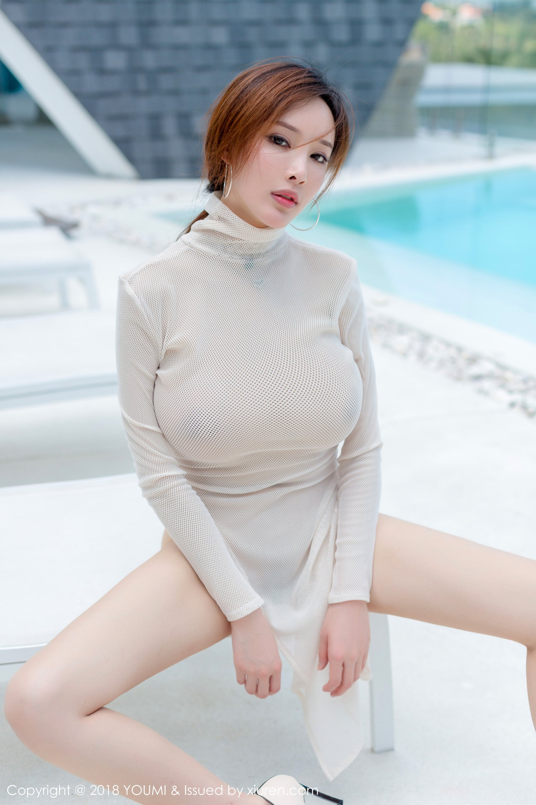 hot transparent mesh wearing Chinese glamour